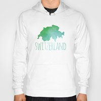 switzerland Hoodies featuring Switzerland by Stephanie Wittenburg