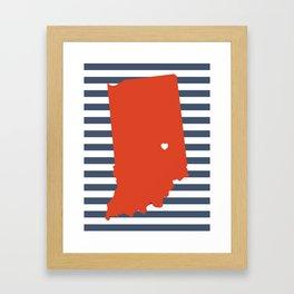 Indianapolis, Indiana Framed Art Print