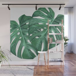 Monstera Tropical Leaf Painting Wall Mural