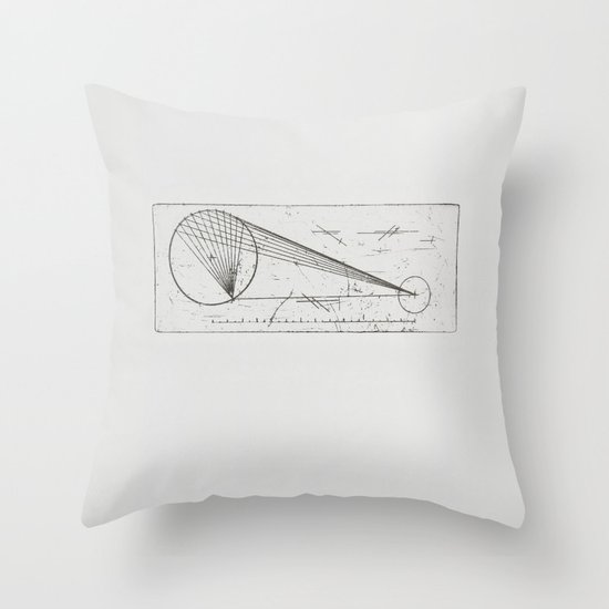 Etched print no. 1 Throw Pillow