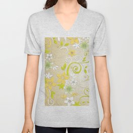 Flowers wall paper 2 Unisex V-Neck