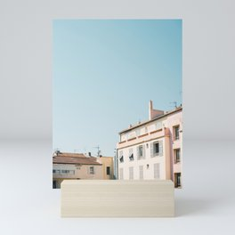 Pretty pretty Cannes | Pastel colored apartment buildings in the South of France Mini Art Print