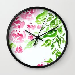 Blushing Beauties Wall Clock
