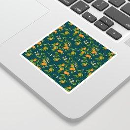 Citrus Tree - Navy Sticker