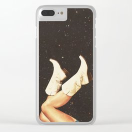 These Boots (Space) Clear iPhone Case