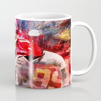 sport Mugs featuring sport art- american football by yossikotler