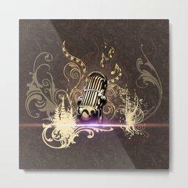 Music, microphone Metal Print