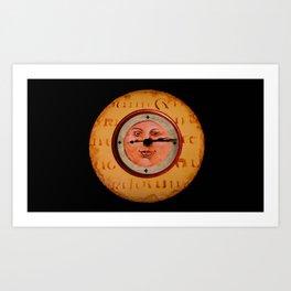 Moon Faced Orange Art Print