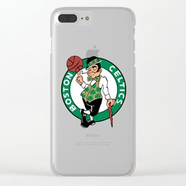 Boston Celtic Clear iPhone Case