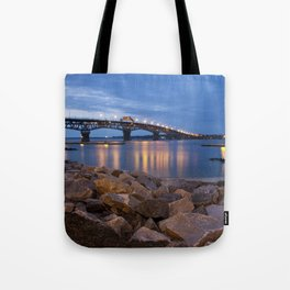 Twilight at Yorktown Beach Tote Bag