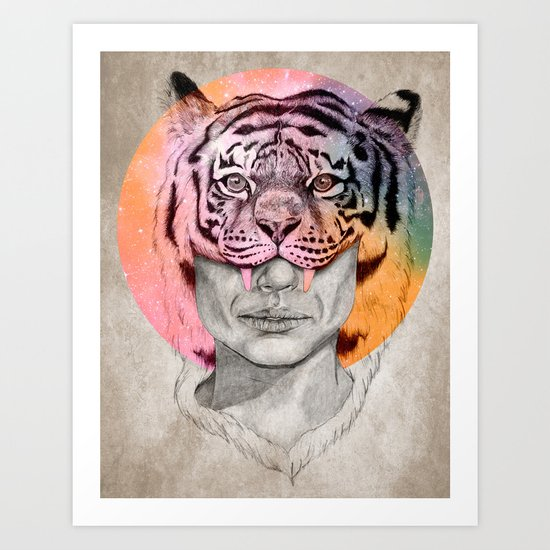 The Tiger Lady Art Print