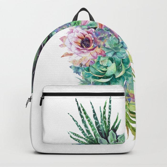 Succulent Bouquet Backpack