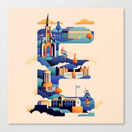 Wanderlust Alphabet – E is for Edinburgh Canvas Print