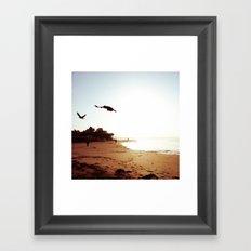 California Beach Landscape Framed Art Print