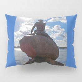 Little Mermaid Backlight Copenhagen Denmark Photograph Pillow Sham