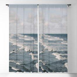 Blue Surf #2 Blackout Curtain