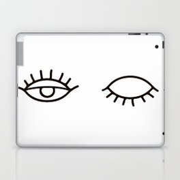 Eyes Wink Print, Makeup Art, Makeup Illustration, Illustration Poster, Fashion Poster, Wardrobe Art, Laptop & iPad Skin