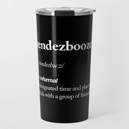 Rendezbooze black and white contemporary minimalism typography design home wall decor black-white Travel Mug