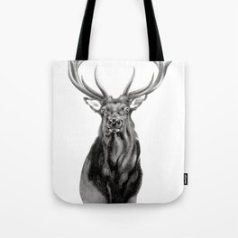 Bull Elk Encounter Tote Bag