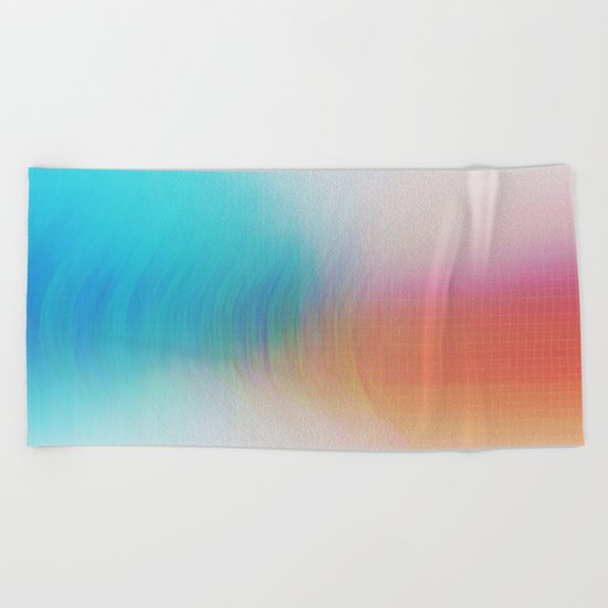 Glitch 08 Beach Towel
