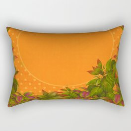 """Plants & Orange Polka Dots"" Rectangular Pillow"