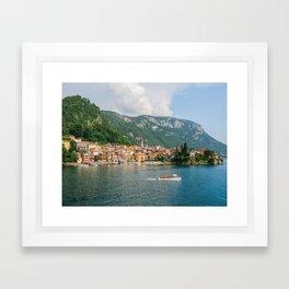 Bellagio in Lake Como Italy Framed Art Print