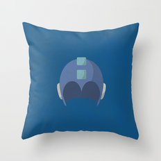 Cool Megaman Helmet Picture Throw Pillow