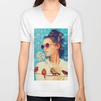diamonds V-neck T-shirts featuring diamonds by manish mansinh