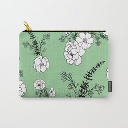 No One Can Make You Feel Inferior - Eleanor Roosevelt - Vintage Green Carry-All Pouch