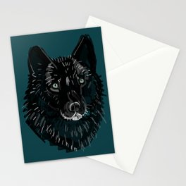 Totem love wolf pattern Stationery Cards