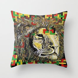 Lion In Zion Throw Pillow