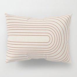 Burnt Orange Line Art Pillow Sham