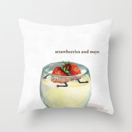 La Cuisine Fusion - Strawberries with Mayo Throw Pillow