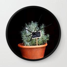 Lavender Plant Wall Clock