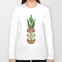 pineapple Long Sleeve T-shirts featuring Pineapple by Jan Luzar