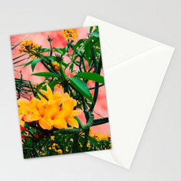 Plumeria in Storm Stationery Cards