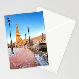 Plaza de España, Sevilla, Spain 4 Stationery Cards