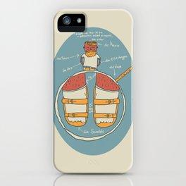 der Strumpf, die Sandale. iPhone Case