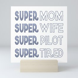 Super Pilot Mom Mini Art Print