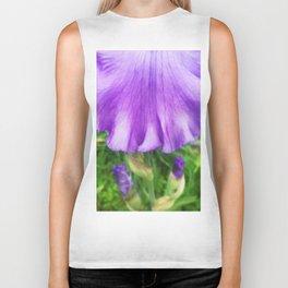 499 - Purple Iris Abstract Biker Tank
