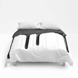 Black paint drip Comforters