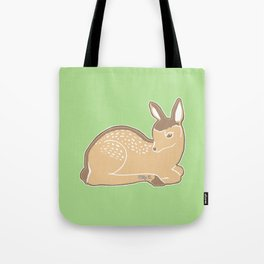 White-Tailed Deer Spring Green Tote Bag