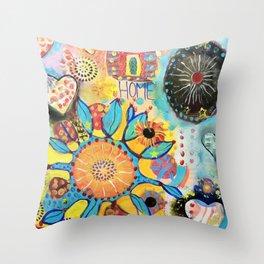 Home of the Heart (Casa de Corazon) Throw Pillow