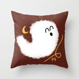 Happy Little Ghost II Throw Pillow