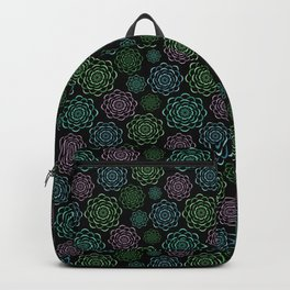 cactus plant garden pattern Backpack