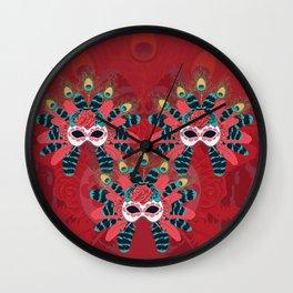 Festive face mask Wall Clock