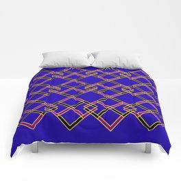 Diagonally Blue Comforters