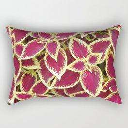 red coleus leaves Rectangular Pillow