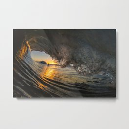 Glassy Sunday Metal Print