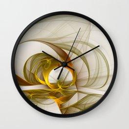 Fractal Art Precious Metals, Abstract Graphic Wall Clock